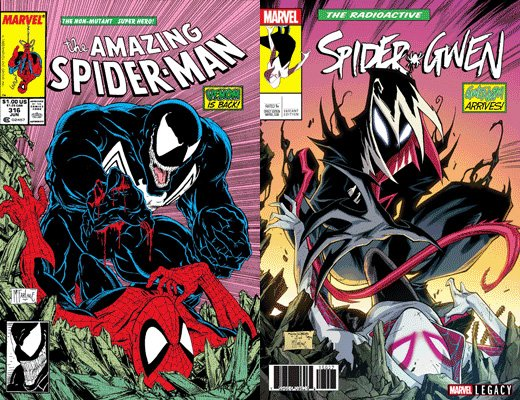 Khary Randolphs Spider Gwen VENOM Variant Cover Homage To Amazing Man 316 By Todd McFarlane
